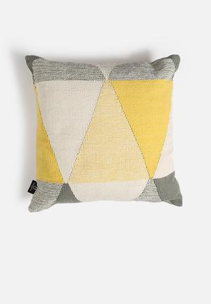 Hertex Fabrics Pyramid Cushion Woven Cotton Kelim