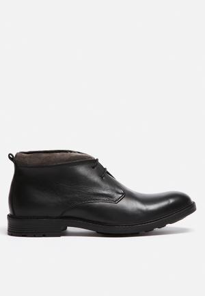 Watson Shoes Midnight Leather Boot Black