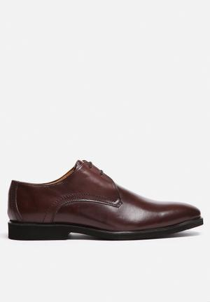 Watson Shoes Audi Leather Derby Formal Shoes Brown