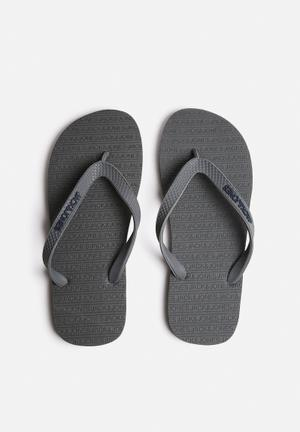 Jack & Jones Footwear & Accessories Basic Rubber Sandals & Flip Flops Grey