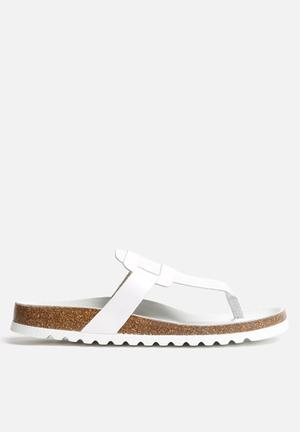 Vero Moda Ania Leather Sandal White