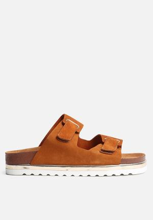 Vero Moda Jane Leather Sandal Cognac