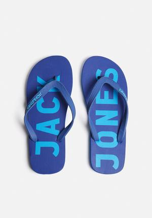 Jack & Jones Footwear & Accessories Logo Rubber Sandals & Flip Flops Blue