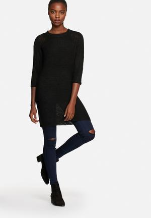 ONLY Malin Long Jersey Knitwear Black