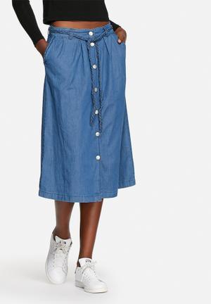 ONLY Dorie Midi Skirt Blue