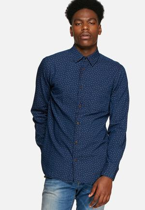 Jack & Jones Vintage Jason Slim Shirt  Mood Indigo