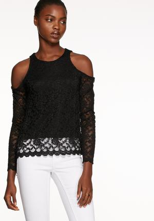 Vero Moda Jane Cold Shoulder Top Blouses Black