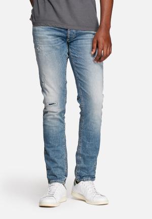 Jack & Jones Jeans Intelligence Tim Original Slim Jeans Blue Denim