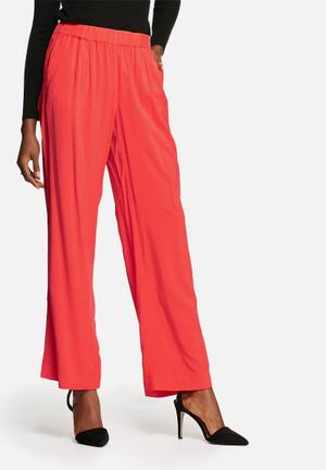 Vero Moda Super Easy Wide Pants Trousers Bright Red