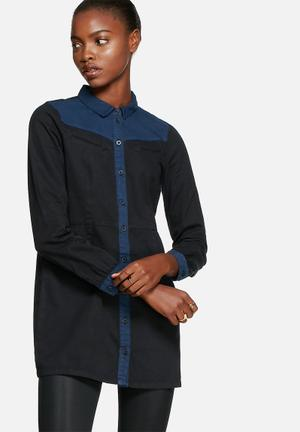 Vero Moda Ruby Western Shirt Black / Blue