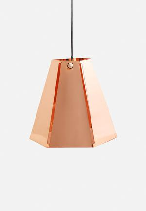 Emerging Creatives Hex Lamp Lighting Solid Copper (Polished)