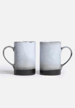 Urchin Art Mug Set Of 2  Ceramic