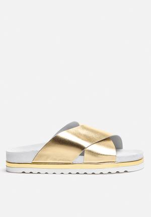 Vero Moda Lora Leather Sandal Gold