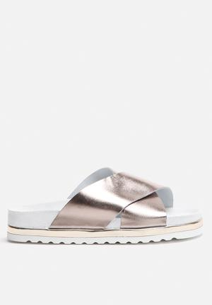 Vero Moda Lora Leather Sandal Gunmetal