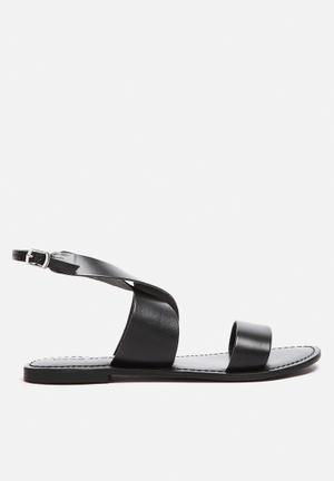 Vero Moda Sandra Leather Sandal Black
