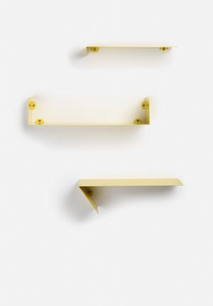 Sixth Floor Tetris Shelf 3 Set Yellow