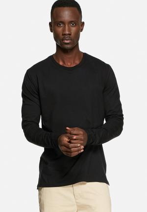 Basicthread Basic Long Sleeve T-Shirts & Vests Black