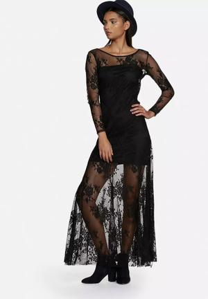 Glamorous Lace Dress Occasion Black