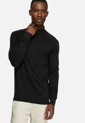 Selected Homme Adam Roll Neck Knitwear Black