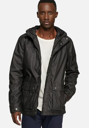 Selected Homme Gian Short Parka Jackets Black