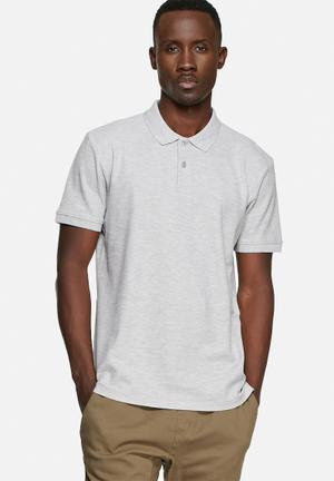 Basicthread Regular Fit Polo T-Shirts & Vests Grey