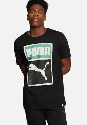 PUMA Brand Tee T-Shirts Black