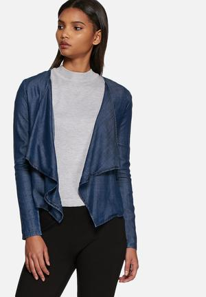 ONLY Solange Waterfall Jacket Blue