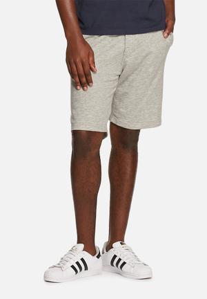 Selected Homme Bowen Sweat Shorts Light Grey Melange