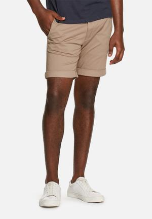 Selected Homme Paris Chino Shorts Stone