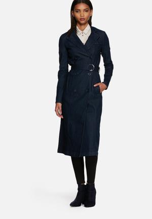 ONLY Becca Denim Trenchcoat Blue