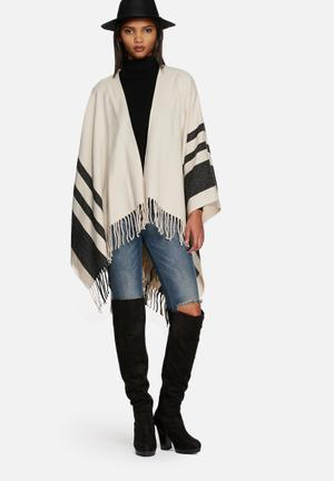 ONLY Tinka Poncho Scarves Beige