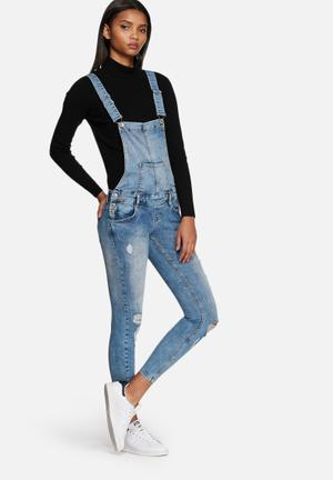 ONLY Kimmy Dungarees Jeans Blue