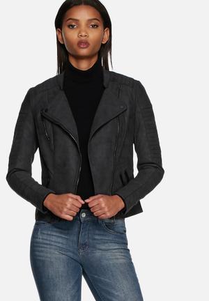ONLY Ava PU Biker Jacket  Black