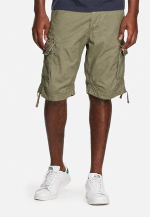 Jack & Jones Jeans Intelligence Gary Cargo Shorts Green