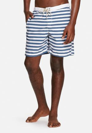 Jack & Jones Jeans Intelligence Nyle Swim Short Swimwear White & Blue