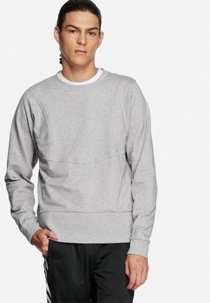 Adidas Originals Cutline Sweater Hoodies & Sweatshirts Grey Melange