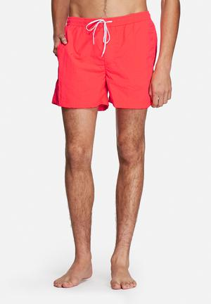 Jack & Jones Jeans Intelligence Malibu Swim Shorts Swimwear Fiery Coral