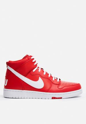 Nike Dunk High Comfort Premium Sneakers University Red / White