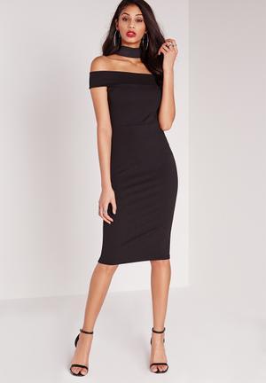 Missguided Bodycon Dress Black Occasion Black