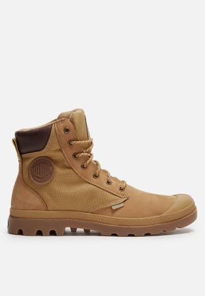 Palladium Pampa Sport Boots Gold & Tan