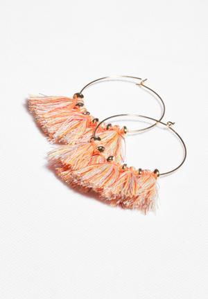 Glamorous Tassel Earrings Jewellery Coral
