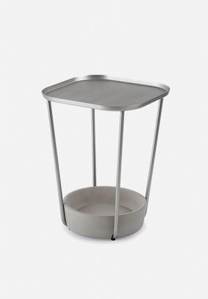 Umbra Tavalo Side Table Cast Concrete With Plated Steel Top