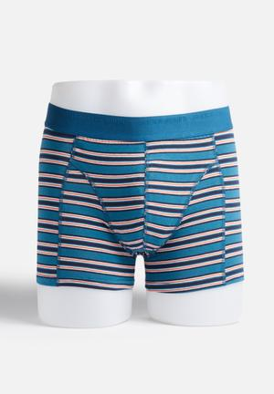 Jack & Jones Footwear & Accessories Yard Trunks Underwear Blue, Black & Red