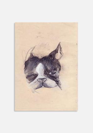 Me And Norman  Wednesday The Boston Terrier Art