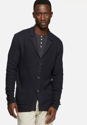 Selected Homme Firenze Knit Blazer Knitwear Navy Blazer