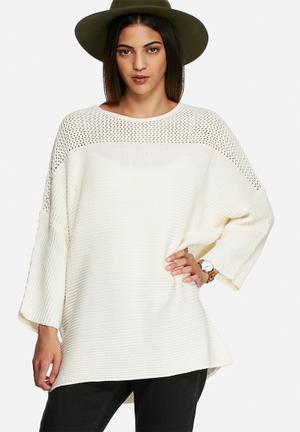 VILA Makira Sweater Knitwear Cream