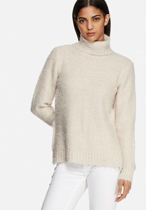 VILA Culture Sweater Knitwear Beige