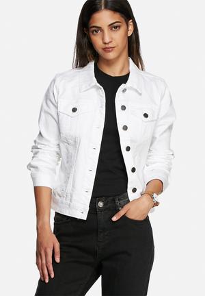 VILA Snow Denim Jacket White