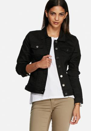 VILA Snow Denim Jacket Black