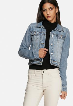 VILA Piper Denim Jacket Blue Denim
